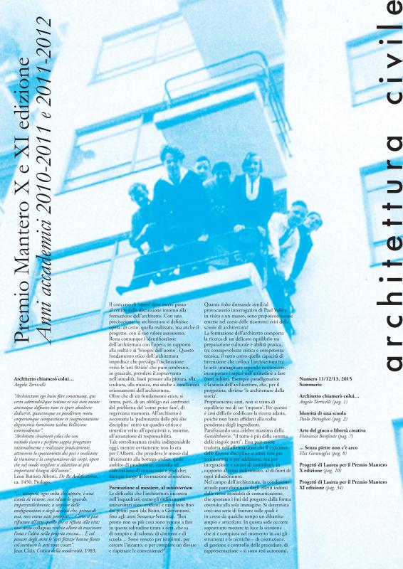 Architettura Civile n. 11/12/13, 2015
