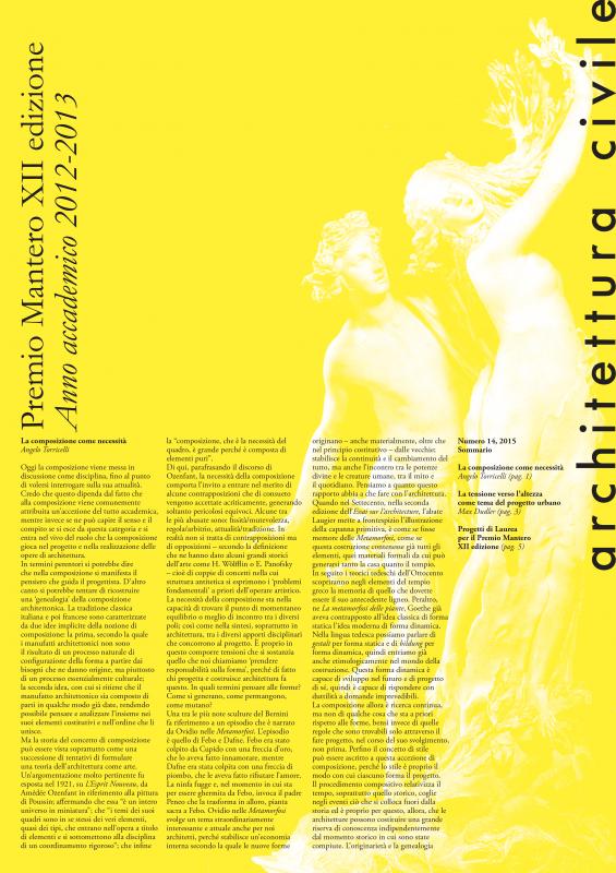 Architettura Civile n.14, 2015