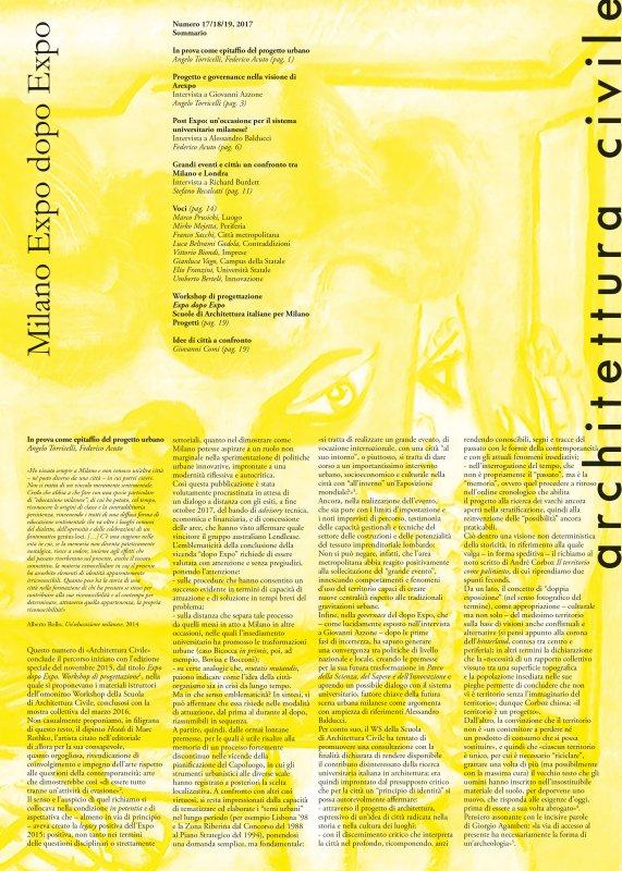 Architettura Civile, n.17/18/19, 2017