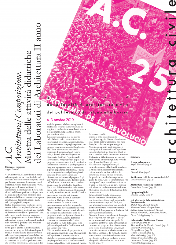 Architettura Civile. n.3, 2010