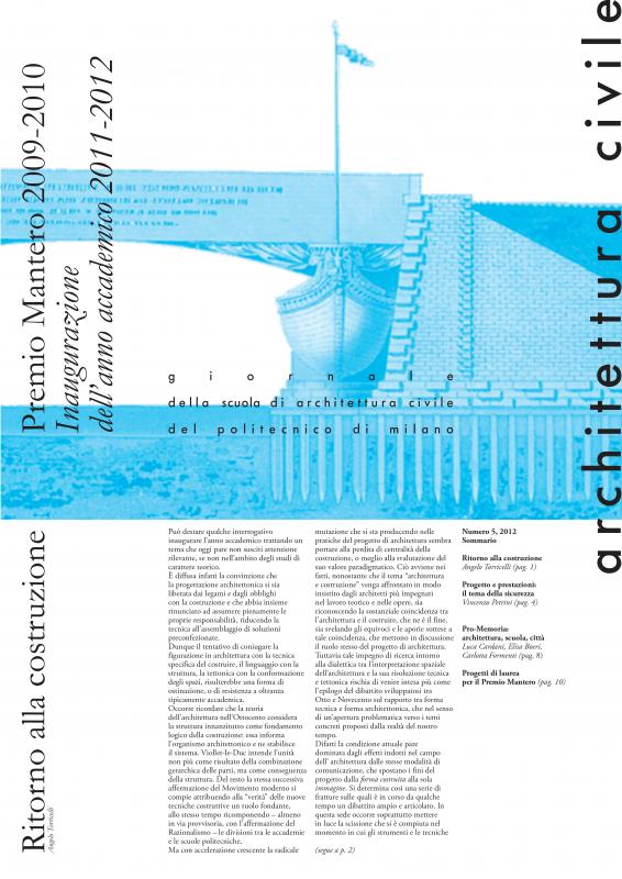Architettura Civile. n.5, 2012